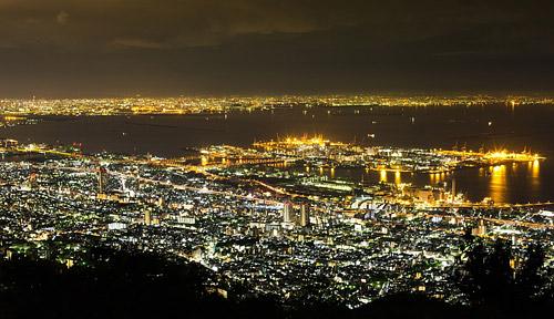 神戸市真耶山掬星台からの夜