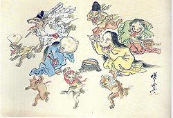 日本の波浪印(江戸時代後期)